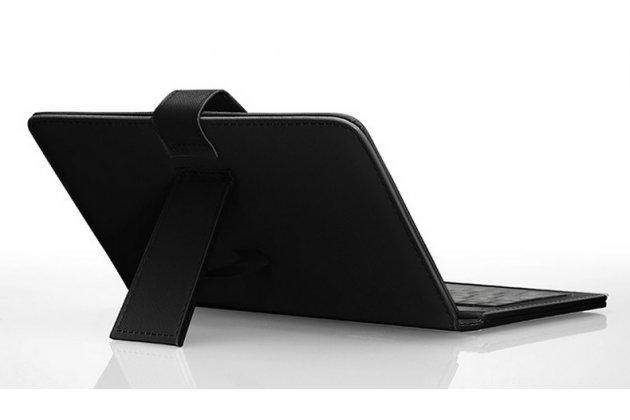 Чехол со встроенной клавиатурой для телефона nokia lumia 1320 6.0 дюймов черный кожаный + гарантия