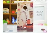 """Необычная из легчайшего и тончайшего пластика задняя панель-чехол-накладка для nokia lumia 1520 """"тематика лондонский глаз"""""""