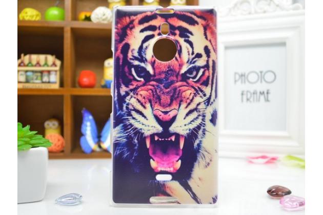 """Необычная из легчайшего и тончайшего пластика задняя панель-чехол-накладка для nokia lumia 1520 """"тематика тигр"""""""