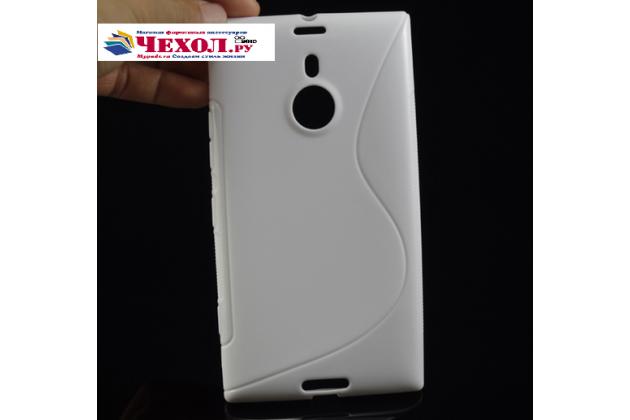 Ультра-тонкая полимерная из мягкого качественного силикона задняя панель-чехол-накладка для  nokia lumia 1520 белая