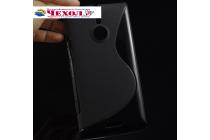 Ультра-тонкая полимерная из мягкого качественного силикона задняя панель-чехол-накладка для  nokia lumia 1520 черная
