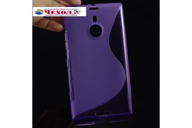 Ультра-тонкая полимерная из мягкого качественного силикона задняя панель-чехол-накладка для nokia lumia 1520 фиолетовая