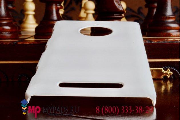 Задняя панель-крышка из тончайшего и прочного пластика для nokia lumia 1520 белая