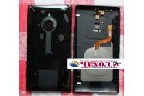 Родная оригинальная задняя крышка с функцией беспроводной зарядки и логотипом для nokia lumia 1520 черная