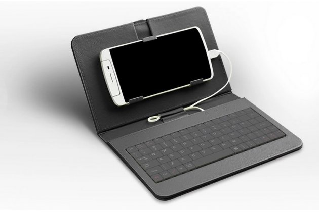 Чехол со встроенной клавиатурой для телефона nokia lumia 1520 6.0 дюймов черный кожаный + гарантия
