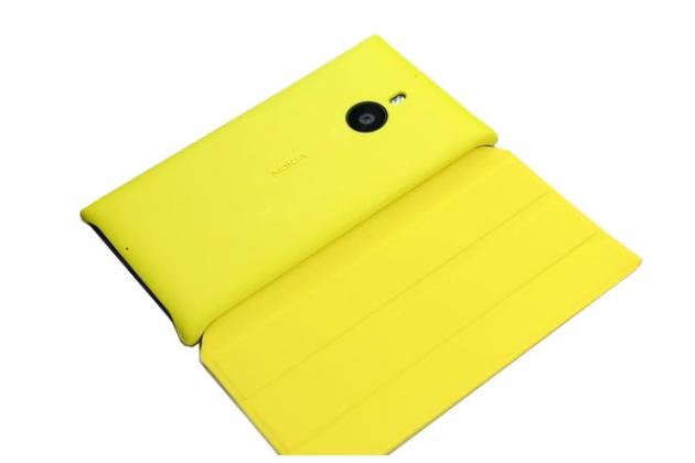 Ультра-тонкий чехол книжка с логотипом cp-623 для nokia lumia 1520 желтый