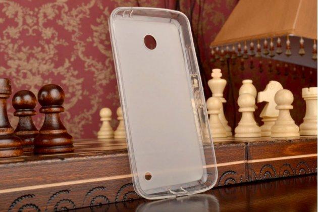 Ультра-тонкая полимерная мягкая задняя панель-чехол-накладка для nokia lumia 630 dual sim белая