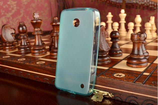 Ультра-тонкая полимерная мягкая задняя панель-чехол-накладка для nokia lumia 630 dual sim зеленая