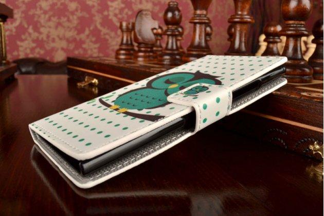 """Уникальный необычный чехол-книжка для nokia lumia 730 dual sim  """"тематика сова"""""""