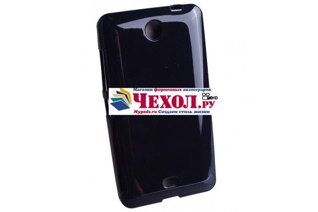 Ультра-тонкая силиконовая задняя панель-чехол-накладка для nokia lumia 800/800c черная
