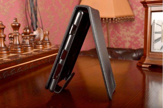 Вертикальный откидной чехол-флип для nokia lumia 820 черный кожаный