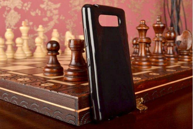 Ультра-тонкая силиконовая задняя панель-чехол-накладка для nokia lumia 820 черная