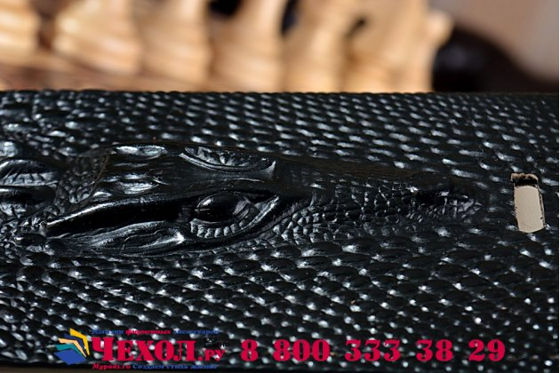 Роскошный эксклюзивный чехол с объёмным 3d изображением кожи крокодила черный для nokia lumia 830. только в нашем магазине. количество ограничено