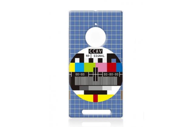 """Необычная из легчайшего и тончайшего пластика задняя панель-чехол-накладка для nokia lumia 830  """"тематика нет сигнала"""""""