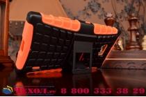 Противоударный усиленный ударопрочный чехол-бампер-пенал для nokia lumia 930 оранжевый