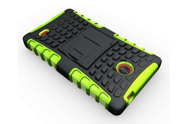 Противоударный усиленный ударопрочный чехол-бампер-пенал для nokia x dual sim зелёный