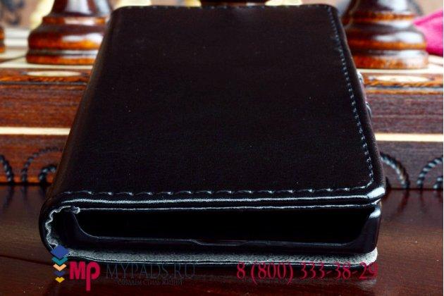 Чехол-книжка из качественной импортной кожи для nokia x dual sim черный