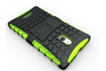 Противоударный усиленный ударопрочный чехол-бампер-пенал для nokia xl dual sim зелёный