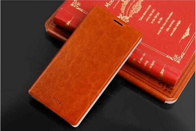 Чехол-книжка из качественной импортной кожи для nokia xl dual sim коричневый