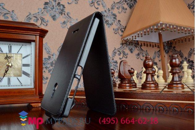 Вертикальный откидной чехол-флип для nokia xl dual sim черный кожаный