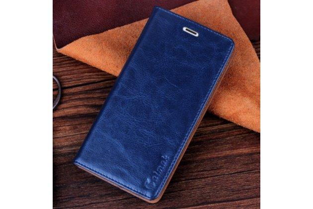 Чехол-книжка для nokia lumia 1020 синий с узором кожаный