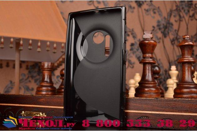 Ультра-тонкая полимерная из мягкого качественного силикона задняя панель-чехол-накладка для nokia lumia 1020 черная