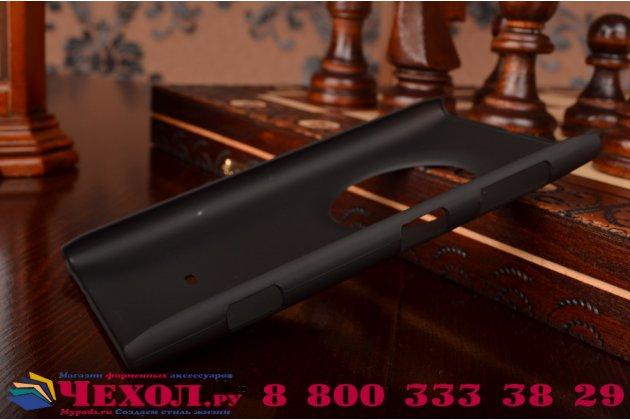 Задняя панель-крышка-накладка из тончайшего и прочного пластика для nokia lumia 1020 черная
