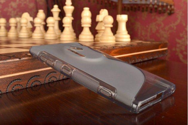 Ультра-тонкая полимерная из мягкого качественного силикона задняя панель-чехол-накладка для nokia lumia 1020 серая