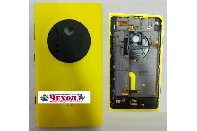 Родная задняя крышка с функцией беспроводной зарядки и логотипом для nokia lumia 1020 желтая