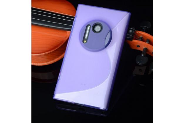 Ультра-тонкая полимерная из мягкого качественного силикона задняя панель-чехол-накладка для nokia lumia 1020 фиолетовая