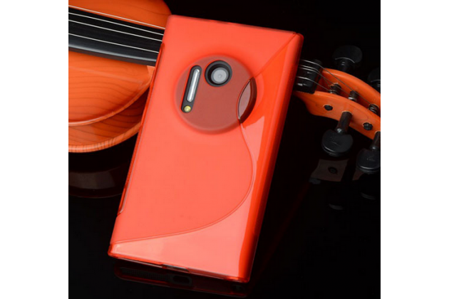Ультра-тонкая полимерная из мягкого качественного силикона задняя панель-чехол-накладка для nokia lumia 1020 красная