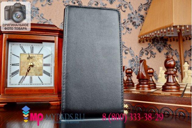Вертикальный откидной чехол-флип для nokia lumia 1020 черный кожаный