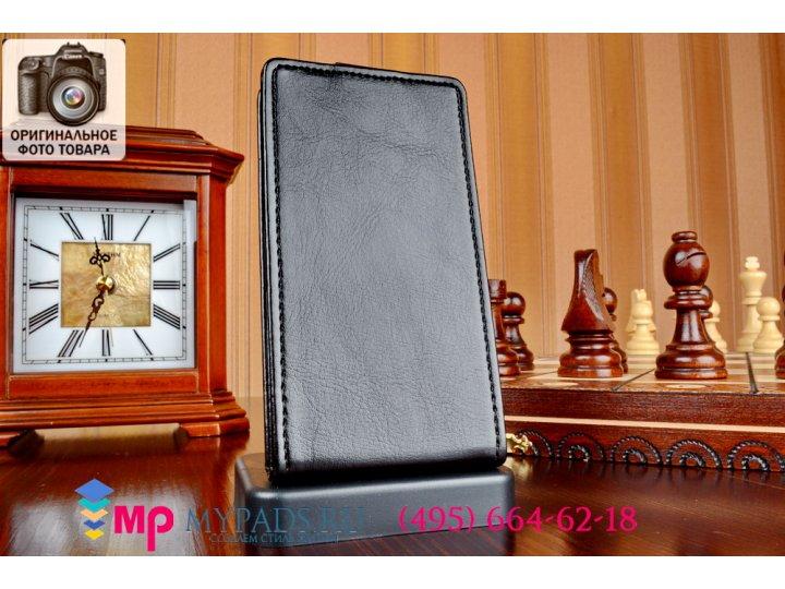 Вертикальный откидной чехол-флип для nokia lumia 520 черный из качественной импортной кожи