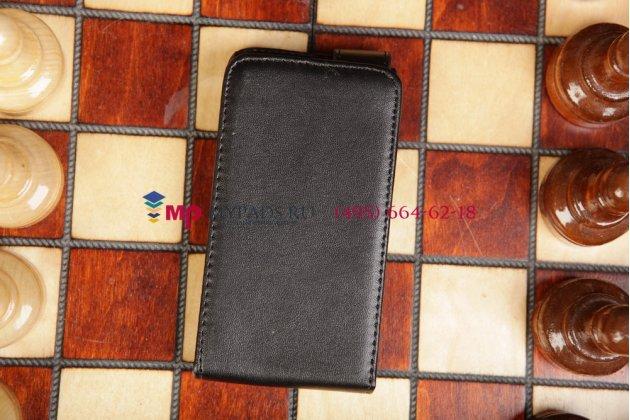 Вертикальный откидной чехол-флип для nokia lumia 620 черный кожаный