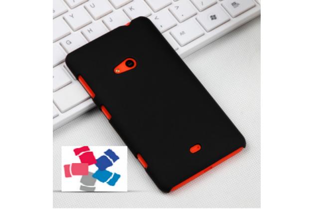 Задняя панель-крышка-накладка из тончайшего и прочного пластика для nokia lumia 625 черная