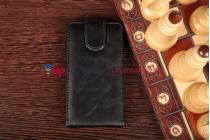 Вертикальный откидной чехол-флип для nokia lumia 720 черный кожаный