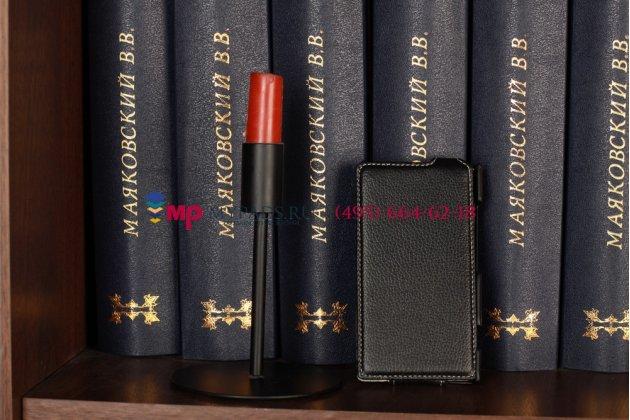 Вертикальный откидной чехол-флип для nokia lumia 920 черный кожаный