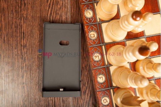 Чехол со встроенной усиленной мощной батарей-аккумулятором большой повышенной расширенной ёмкости 2200mah для nokia lumia 920 черный + гарантия