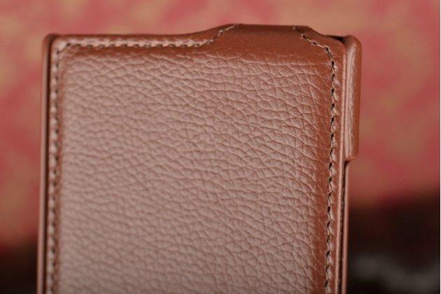 Вертикальный откидной чехол-флип для nokia lumia 920 коричневый кожаный