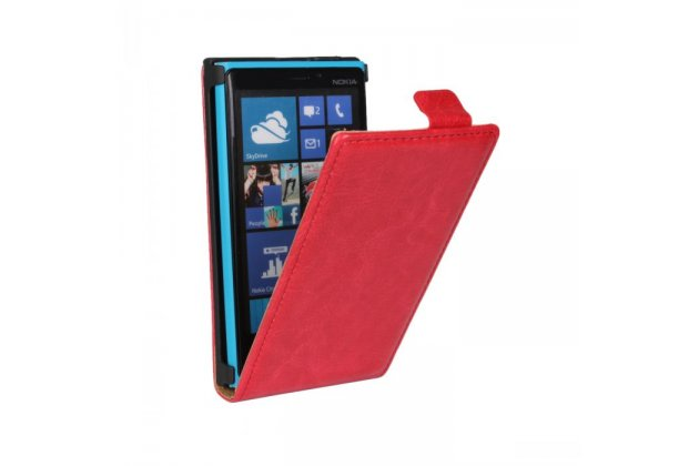 Вертикальный откидной чехол-флип для nokia lumia 920 красный кожаный