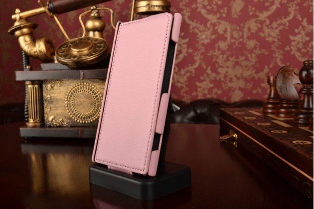 Вертикальный откидной чехол-флип для nokia lumia 920 розовый кожаный