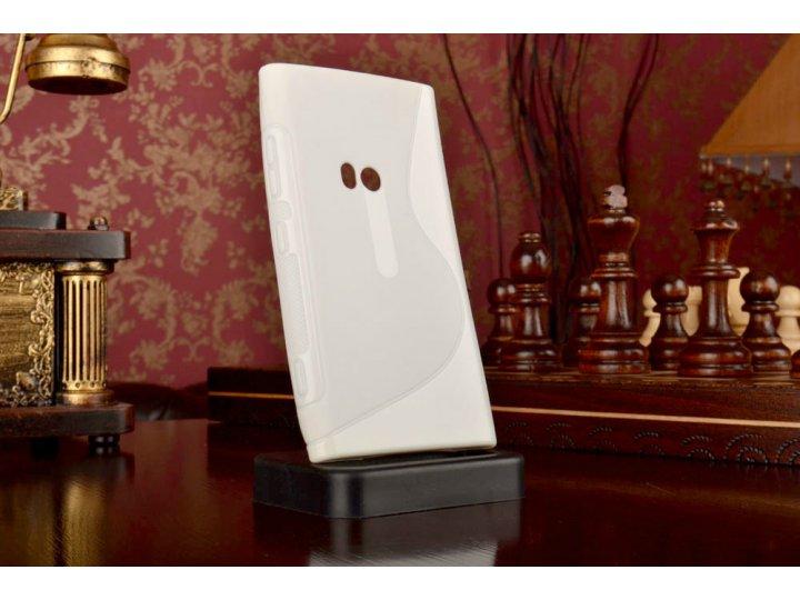 Ультра-тонкая силиконовая задняя панель-чехол-накладка для nokia lumia 920 белая..