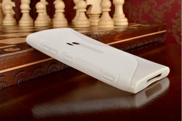 Ультра-тонкая силиконовая задняя панель-чехол-накладка для nokia lumia 920 белая