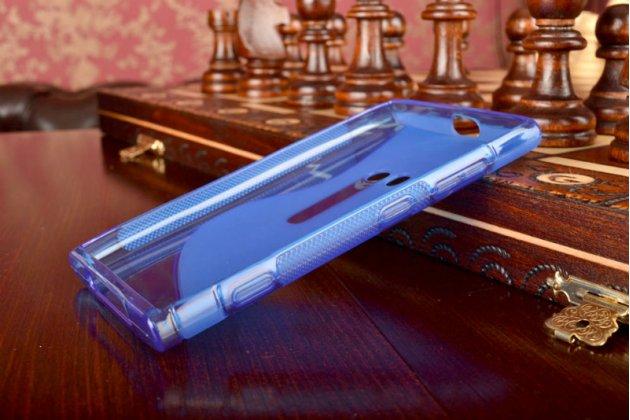 Ультра-тонкая силиконовая задняя панель-чехол-накладка для nokia lumia 920 синяя