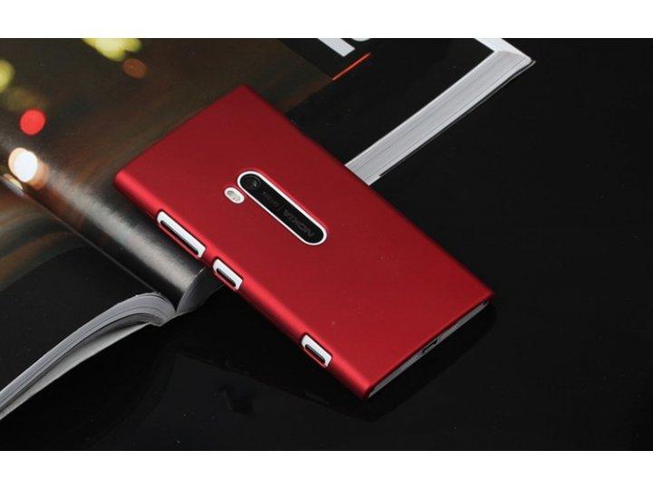 Задняя панель-крышка-накладка из тончайшего и прочного пластика для nokia lumia 920 красная..