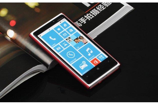 Задняя панель-крышка-накладка из тончайшего и прочного пластика для nokia lumia 920 красная