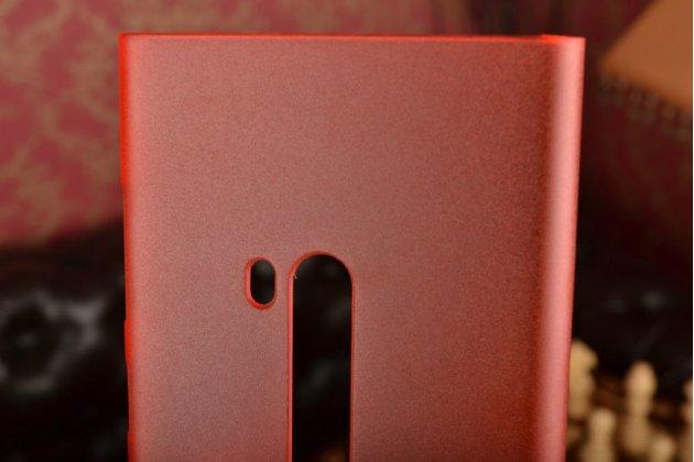 Задняя панель-крышка-накладка из тончайшего и прочного пластика для nokia lumia 920 красная полупрозрачная