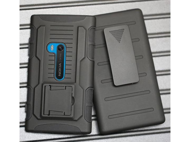 Противоударный усиленный ударопрочный чехол-бампер-пенал для nokia lumia 920 черный..