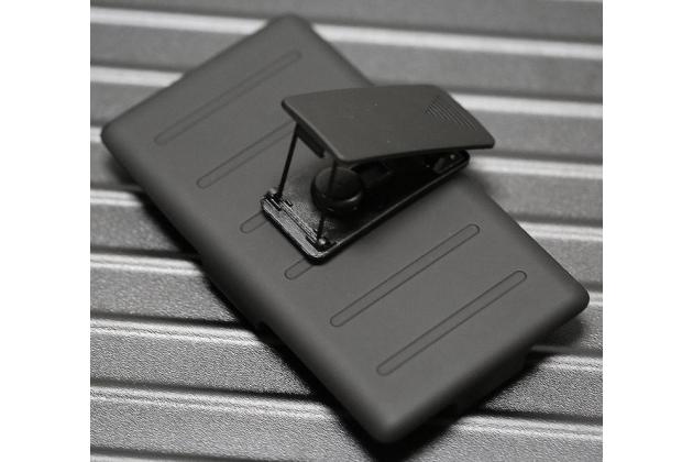 Противоударный усиленный ударопрочный чехол-бампер-пенал для nokia lumia 920 черный