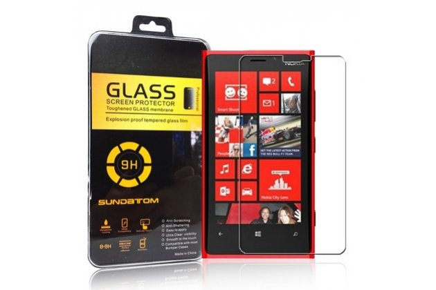 Защитное закалённое противоударное стекло премиум-класса из качественного японского материала с олеофобным покрытием для nokia lumia 920